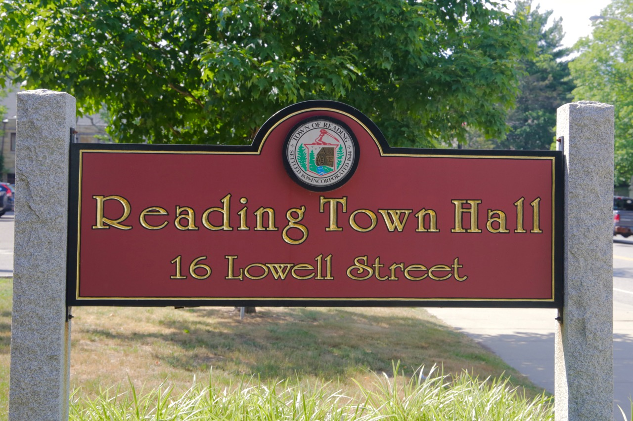 Town Hall Sign close up