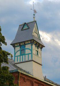 Senior center steeple close up